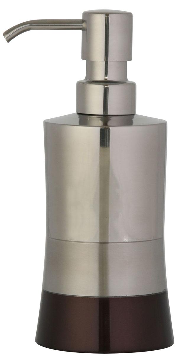 Дозатор для жидкого мыла Axentia Lucca, цвет: серебристый, бронзовый68/5/3Изготовлен из нержавеющей стали, долговечный материал, не боится влажности и механического воздействия. Обработан тремя способами: глянцевая и матовая полировка и бронзовое покрытие. Отлично сочетается с другими аксессуарами из коллекции Lucca.