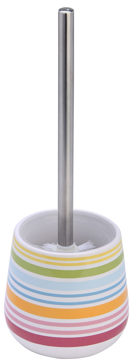 Ершик для унитаза Axentia Rio, с подставкой, высота 37,5 смEDISBS0i43Ершик для унитаза Axentia Rio имеет ручку из высококачественной нержавеющей стали и белую щетку, с жестким густым ворсом. Подставка, выполненная из натуральной и элегантной керамики, декорирована ярким цветным рисунком Rio.Высококачественные материалы позволят наслаждаться покупкой долгие годы. Изделие приятно дополнит интерьер вашей туалетной комнаты.