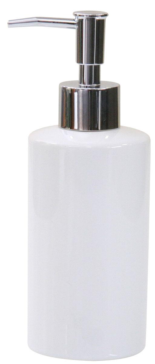 Дозатор для жидкого мыла Axentia Bianco68/5/3Дозатор для жидкого мыла Axentia Bianco изготовлен из натуральной и элегантной керамики белого цвета. Изделие превосходно дополнит интерьер вашей ванной комнаты или кухни, отлично сочетается с другими аксессуарами из коллекции Bianco.Высота дозатора: 18 см.