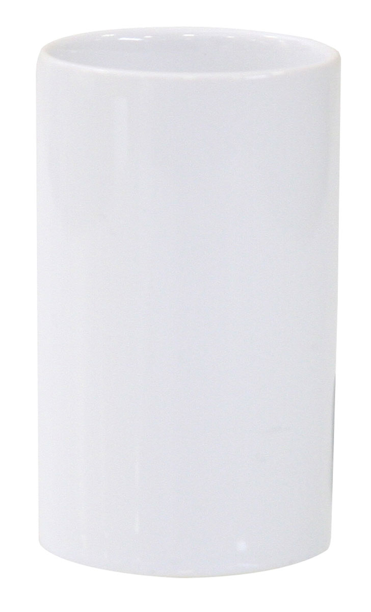 Стакан для зубных щеток Axentia Bianco, высота 11 смS03301004Стакан для зубных щеток Axentia Bianco изготовлен из натуральной и элегантной керамики белого цвета. Изделие превосходно дополнит интерьер ванной комнаты, отлично сочетается с другими аксессуарами из коллекции Bianco.Высота стакана: 11 см.Диаметр стакана (по верхнему краю): 6,5 см.