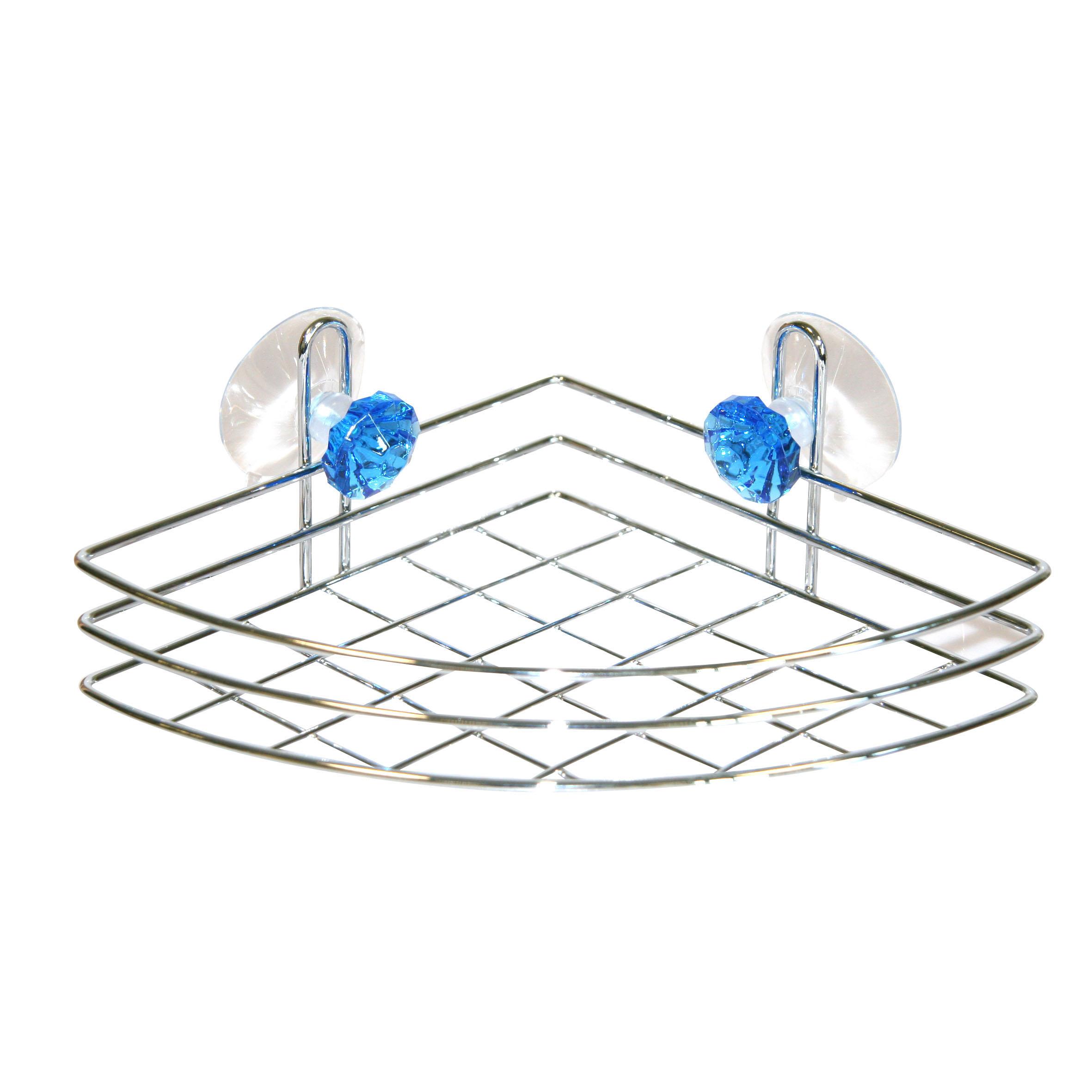 Полка для ванной Top Star Kristall, угловая, одноярусная, 18 х 18 х 6,5 см531-105Трехъярусная полка для ванной Top Star Kristall изготовлена из стали с качественным хромированным покрытием, которое на долго защитит изделие от ржавчины в условиях высокой влажности в ванной комнате. Изделие имеет угловую конструкцию и крепится на присосках (входят в комплект). Классический дизайн и оптимальная вместимость подойдет для любого интерьера ванной комнаты или кухни.