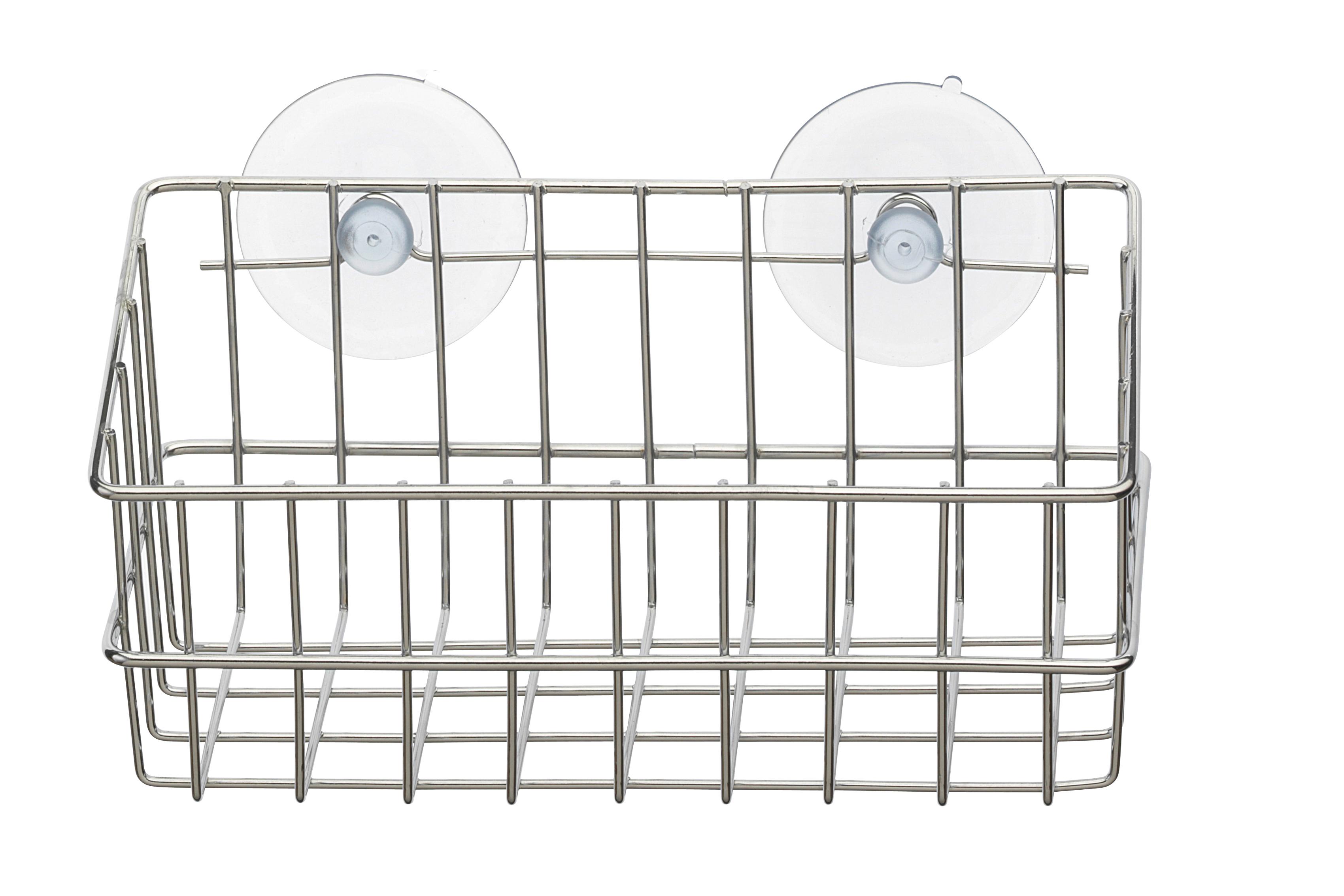 Корзинка для ванной Top Star, на присосках, 19,5 х 9 х 9 см391602Настенная корзинка для ванной комнаты Top Star изготовлена из высококачественной хромированной стали, устойчивой к высокой влажности. Глубокая корзинка прямоугольной формы отлично подойдет для хранения тюбиков гелей для душа, шампуней, мочалок и прочего. Изделие крепится к стене с помощью присосок (входят в комплект).