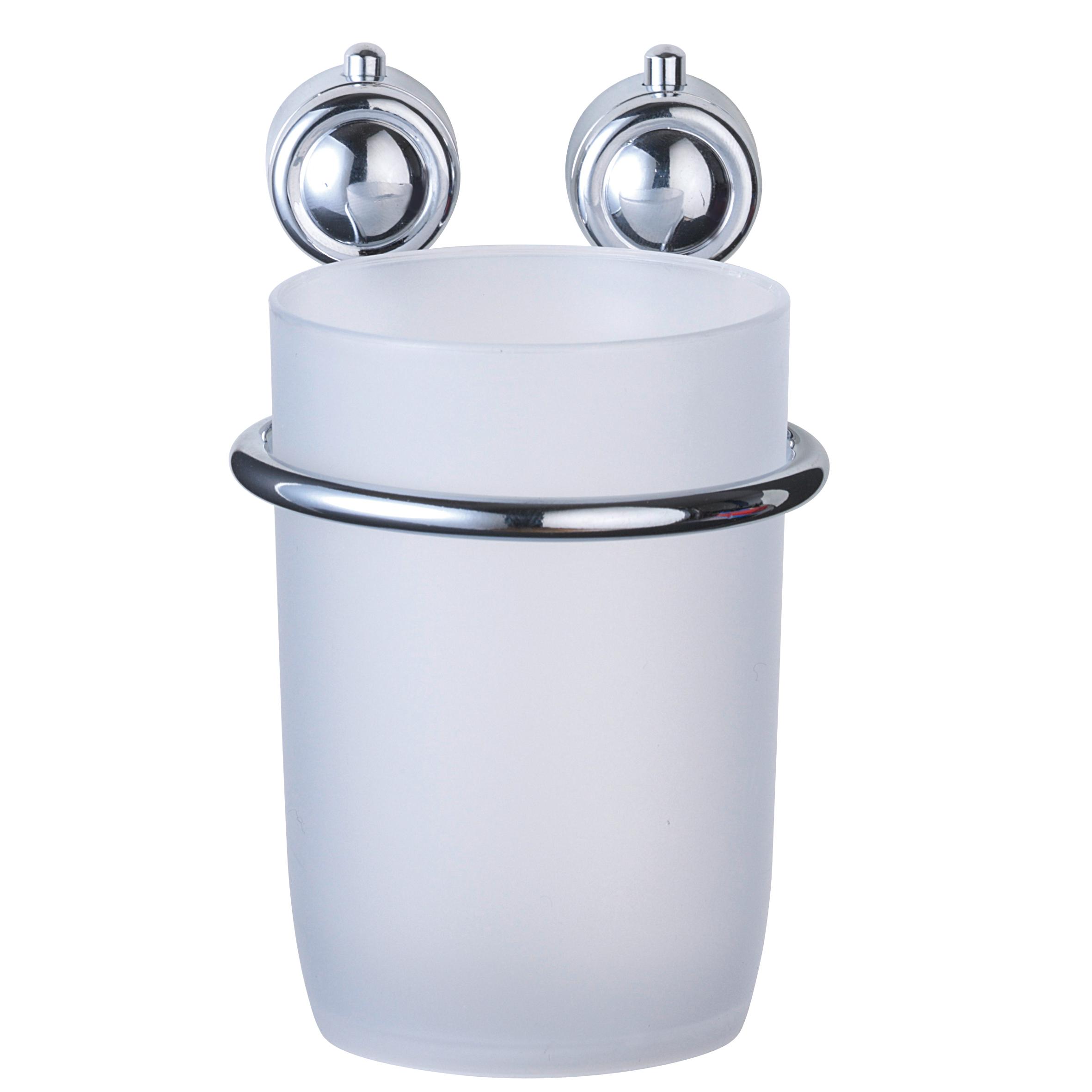 Стакан для ванной комнаты Axentia Atlantik, с держателемK6939-HPСтакан для ванной комнаты Axentia Atlantik изготовлен из пластика и высококачественной хромированной стали, устойчивой к высокой влажности. Стакан с настенным держателем отлично подойдет для вашей ванной комнаты. Изделие крепится к стене с помощью шурупов (входят в комплект).Стакан создаст особую атмосферу уюта и максимального комфорта в ванной.