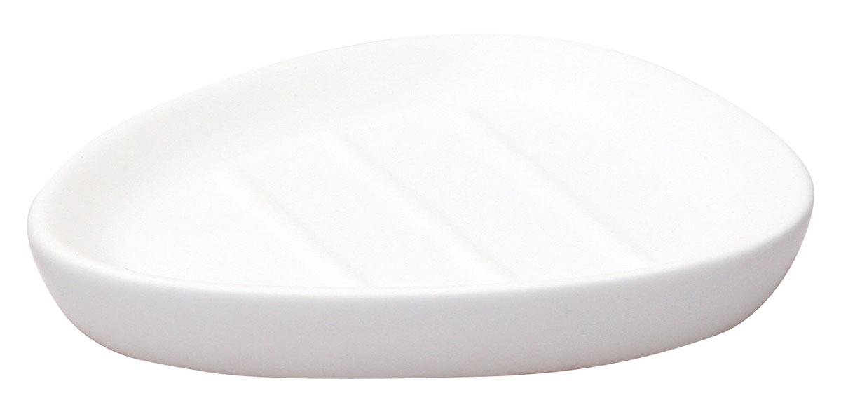 Мыльница Axentia Lasslo, 13,5 х 10,5 х 2,5 смK6-32Мыльница Axentia Lasslo, изготовленная из белой матовой керамики, имеет оригинальную форму. Стильная мыльница придаст уют и настроение в вашей ванной комнате.Размер мыльницы: 13,5 х 10,5 х 2,5 см.
