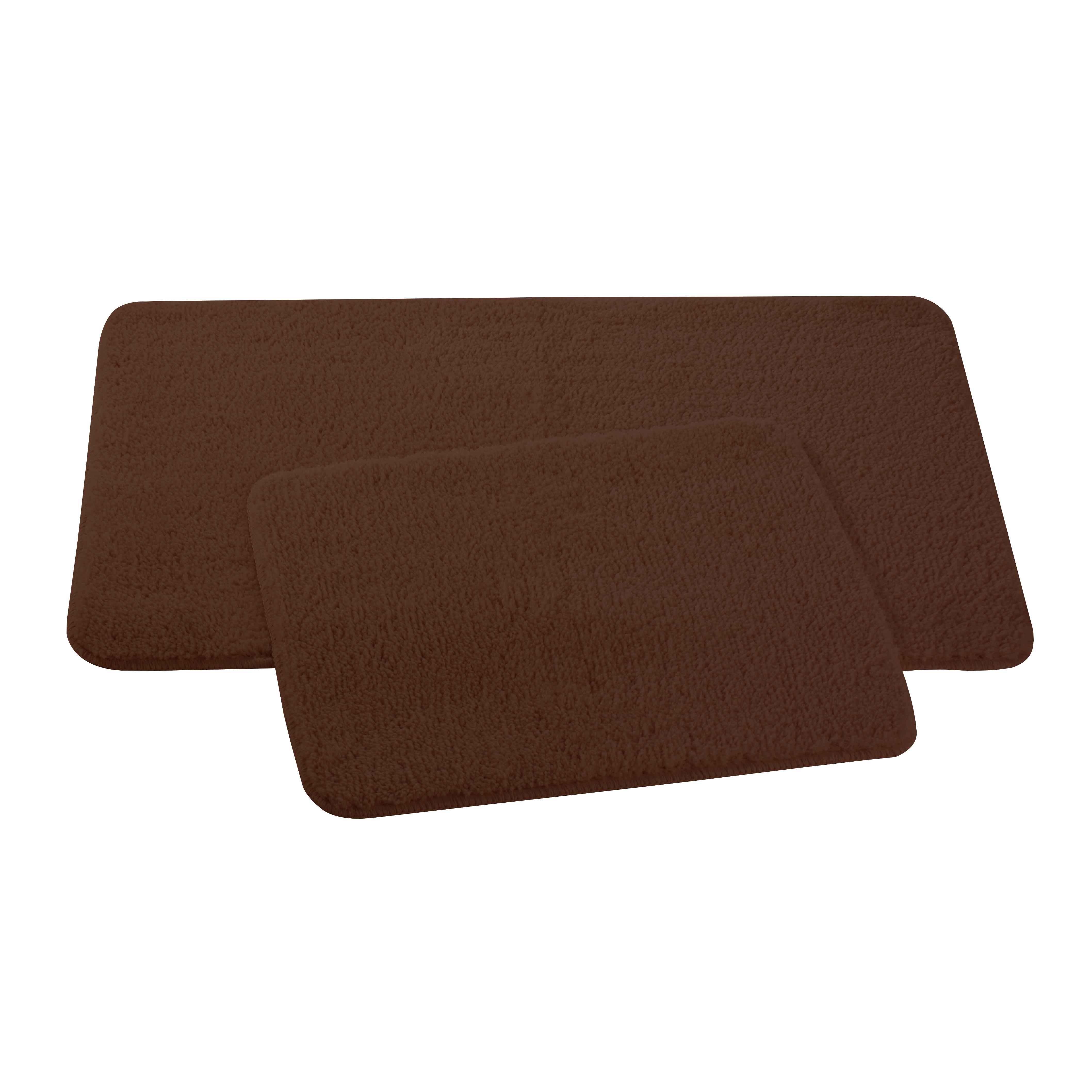 Набор ковриков для ванной и туалета Axentia, цвет: коричневый, 2 шт391602Набор Axentia, выполненный из микрофибры (100% полиэстер), состоит из двух стеганых ковриков для ванной комнаты и туалета. Противоскользящее основание изготовлено из термопластичной резины и подходит для полов с подогревом. Коврики мягкие и приятные на ощупь, отлично впитывают влагу и быстро сохнут. Высокая износостойкость ковриков и стойкость цвета позволит вам наслаждаться покупкой долгие годы. Можно стирать в стиральной машине. Размер ковриков: 50 х 80 см; 50 х 40 см.Высота ворса 1,5 см.