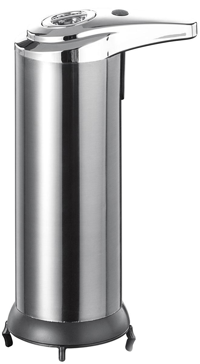 Дозатор для жидкого мыла Axentia, с сенсорным управлением, на подставке, 250 млRG-D31SНастольный дозатор Axentia, изготовлен из нержавеющей стали, бесконтактный, антибактериальный, с сенсорным датчиком подачи мыла при приближении рук. Изделие надежно и удобно в использовании, расположено на устойчивой подставке, Работает на 4-х элементах питания типа ААА (в комплект не входят). Подходит как для домашнего, так и для профессионального использования.Высота дозатора: 18,5 см.