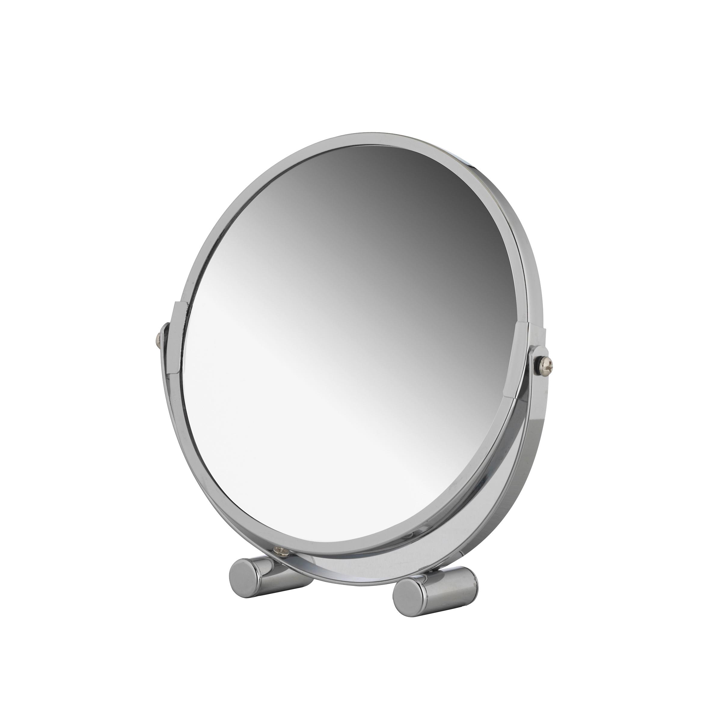 Зеркало косметическое Axentia, настольное, диаметр 17 см4-75Двухсторонне косметическое зеркало Axentia с трехкратным увеличением с одной из сторон идеально подойдет для косметических процедур, нанесения и снятия макияжа, коррекции бровей и многого другого. Изделие имеет настольную конструкцию.Компактные размеры и возможность разворота на 360 градусов создаст дополнительный комфорт при использовании данного аксессуара.Диаметр зеркала: 17 см.