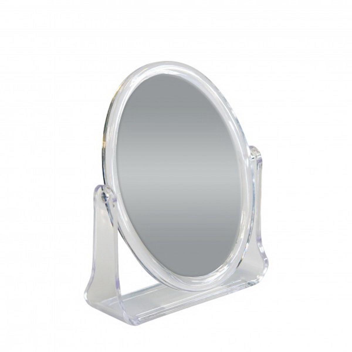 Зеркало косметическое Top Star, настольное, цвет: прозрачный, 15 х 12 см12-015Настольное косметическое зеркало Top Star идеально подходит для нанесения макияжа и совершения различных косметических процедур. Двухстороннее зеркало с регулируемым углом наклона позволит вам установить его так, как это удобно вам, а двукратное увеличение одной из зеркальных линз поможет разглядеть даже малейшие нюансы и устранить все недостатки кожи. Яркий и стильный дизайн делает зеркало отличным подарком родным и близким, оно будет прекрасно смотреться в любом интерьере.