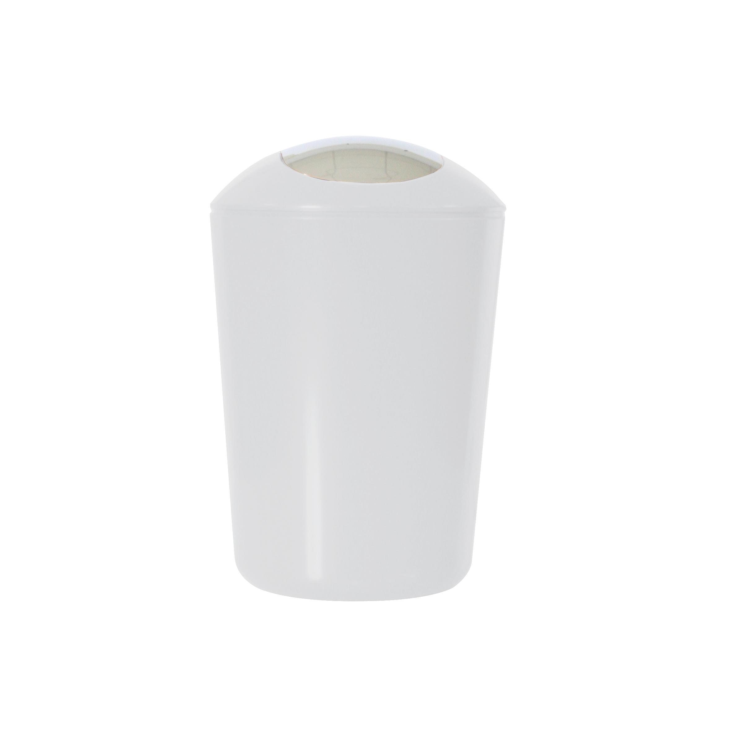 Ведро для мусора Axentia, с крышкой, цвет: белый, хром, 5 лS03201005Глянцевое ведро для мусора Axentia, выполненное из высококачественного износостойкого пластика, оснащено хромированную крышку типа качели. Подходит для использования в ванной комнате или на кухне. Стильный дизайн и яркая расцветка прекрасно подойдет для любого интерьера ванной комнаты или кухни. Размер ведра: 20 х 20 х 30 см.Объем ведра: 5 л.