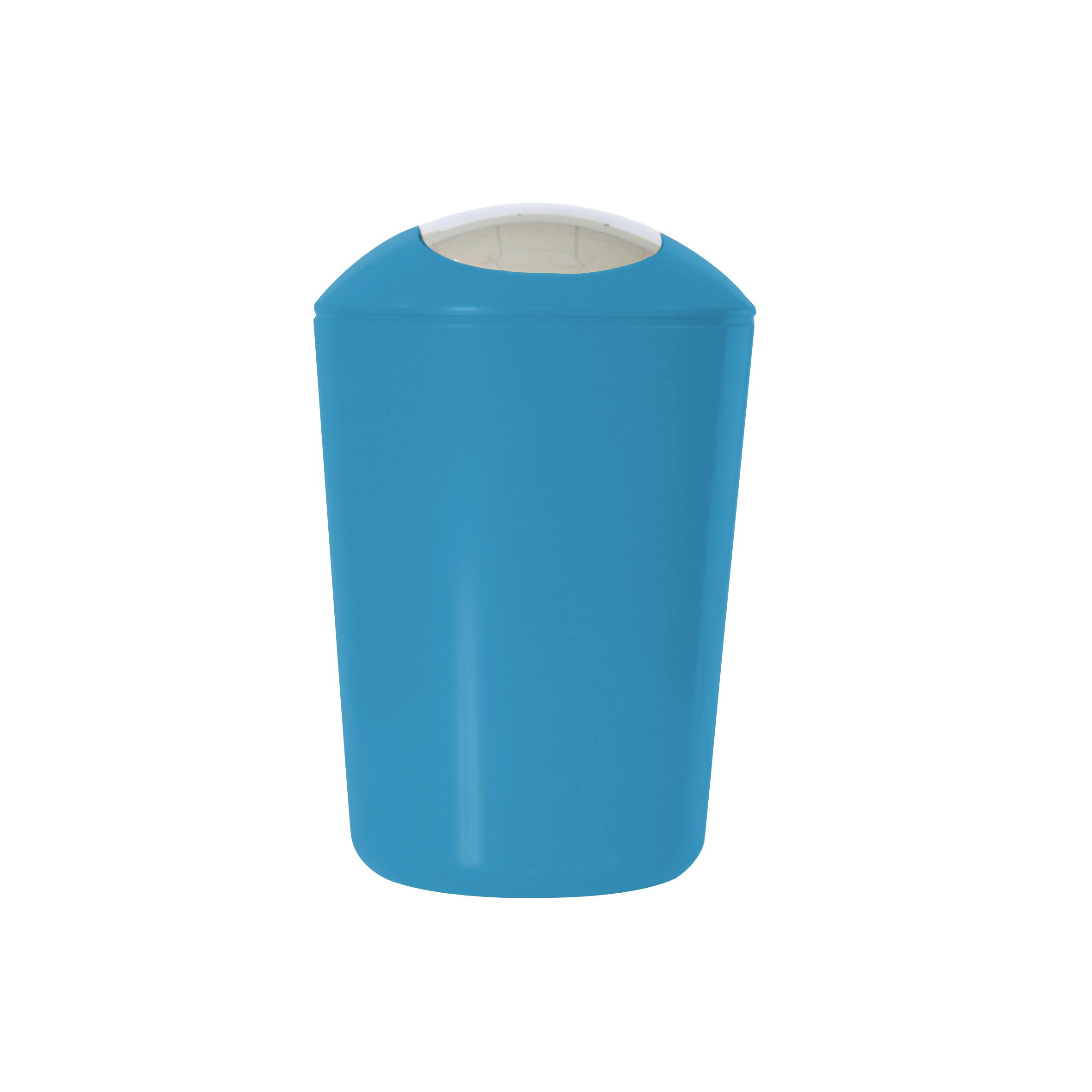 Ведро для мусора Axentia, с крышкой, цвет: синий, хром, 5 л251082Глянцевое ведро для мусора Axentia, выполненное из высококачественного износостойкого пластика, оснащено хромированную крышку типа «качели». Подходит для использования в ванной комнате или на кухне. Стильный дизайн и яркая расцветка прекрасно подойдет для любого интерьера ванной комнаты или кухни. Размер ведра: 20 х 20 х 30 см.Объем ведра: 5 л.