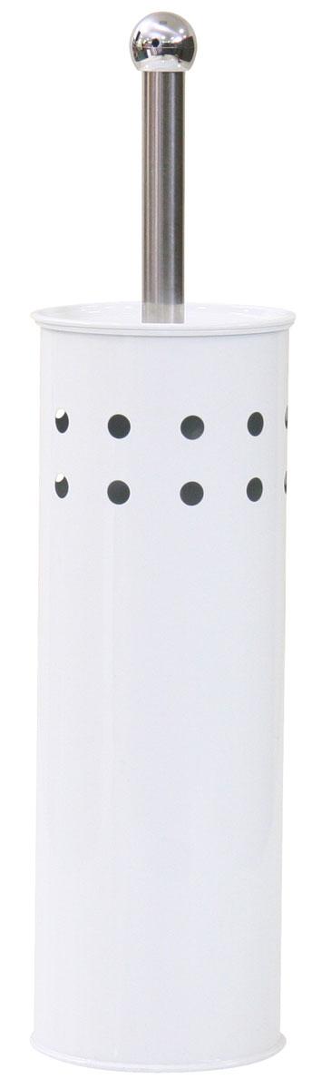 Гарнитур для туалета Axentia, 2 предмета. 282230NN-605-LS-WГарнитур для туалета Axentia включает ершик и металлическую подставку. Ершик для унитаза имеет ручку и крышку из нержавеющей стали и щетку сжестким густым ворсом. Подставка выполнена в виде цилиндра из нержавеющей стали с декоративными отверстиями по верхней части окружности, со стойким порошковым напылением.Высококачественные материалы позволят наслаждаться покупкой долгие годы. Изделие приятно дополнит интерьер вашей туалетной комнаты.