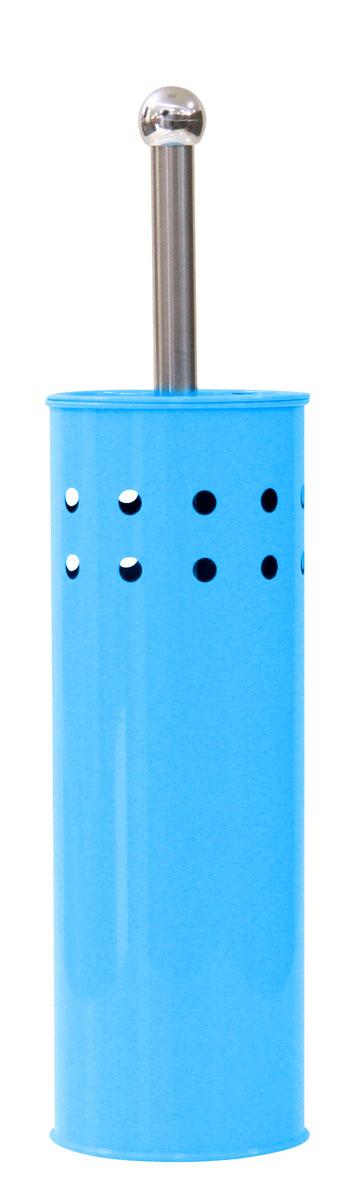 Ершик для унитаза Axentia, с подставкой, цвет: голубой, серебристый, высота 38,5 смRG-D31SЕршик для унитаза Axentia имеет ручку из нержавеющей стали и белую щетку, с жестким густым ворсом. Подставка выполнена в виде цилиндра, изготовленного из нержавеющей стали с серым стойким порошковым напылением. Цилиндр имеет декоративные отверстия по верхней части окружности, внутри которого имеется пластиковый стакан для остаточной влаги. Высококачественные материалы позволят наслаждаться покупкой долгие годы. Изделие приятно дополнит интерьер вашей туалетной комнаты.