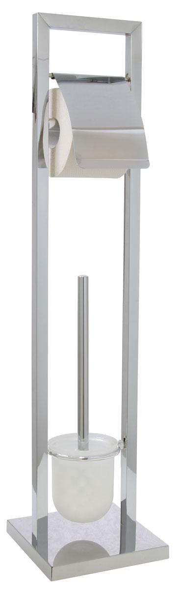 Гарнитур для туалета Axentia, с держателем для бумаги, 18 х 18 х 75 смVBA390K008Туалетный гарнитур с держателем для бумаги Axentia выполнен в стильном дизайне из высококачественной хромированной стали, устойчивой к проявлениям коррозии. Состоит из держателя туалетной бумаги с крышкой, ершика со стальной ручкой, белой щеткой с жестким густым ворсом и подставки. Для высокой устойчивости у гарнитура имеется утяжеленное квадратное основание. Удобен в использовании. Высококачественные материалы, а так же прочные крепления позволят наслаждаться покупкой долгие годы. Изделие приятно дополнит интерьер вашей туалетной комнаты.Высота гарнитура: 75 см.