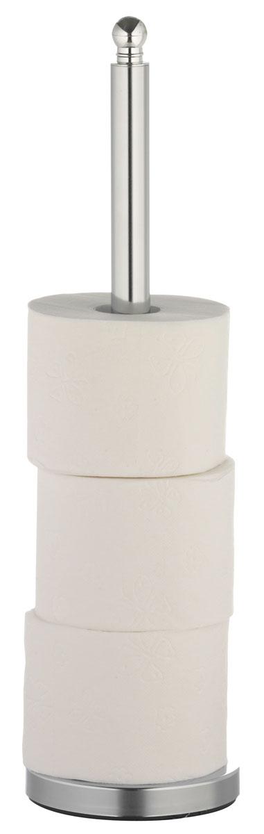 Накопитель для туалетной бумаги Axentia, для 4 рулонов, высота 51 см74-0060Накопитель Axentia, изготовленный из высококачественной хромированной стали, устойчивой к проявлению коррозии, вмещает 4 классических рулона туалетной бумаги. Простой и удобный аксессуар для хранения запасных рулонов пригодится в любом доме.Размер накопителя: 15 х 15 х 51 см.