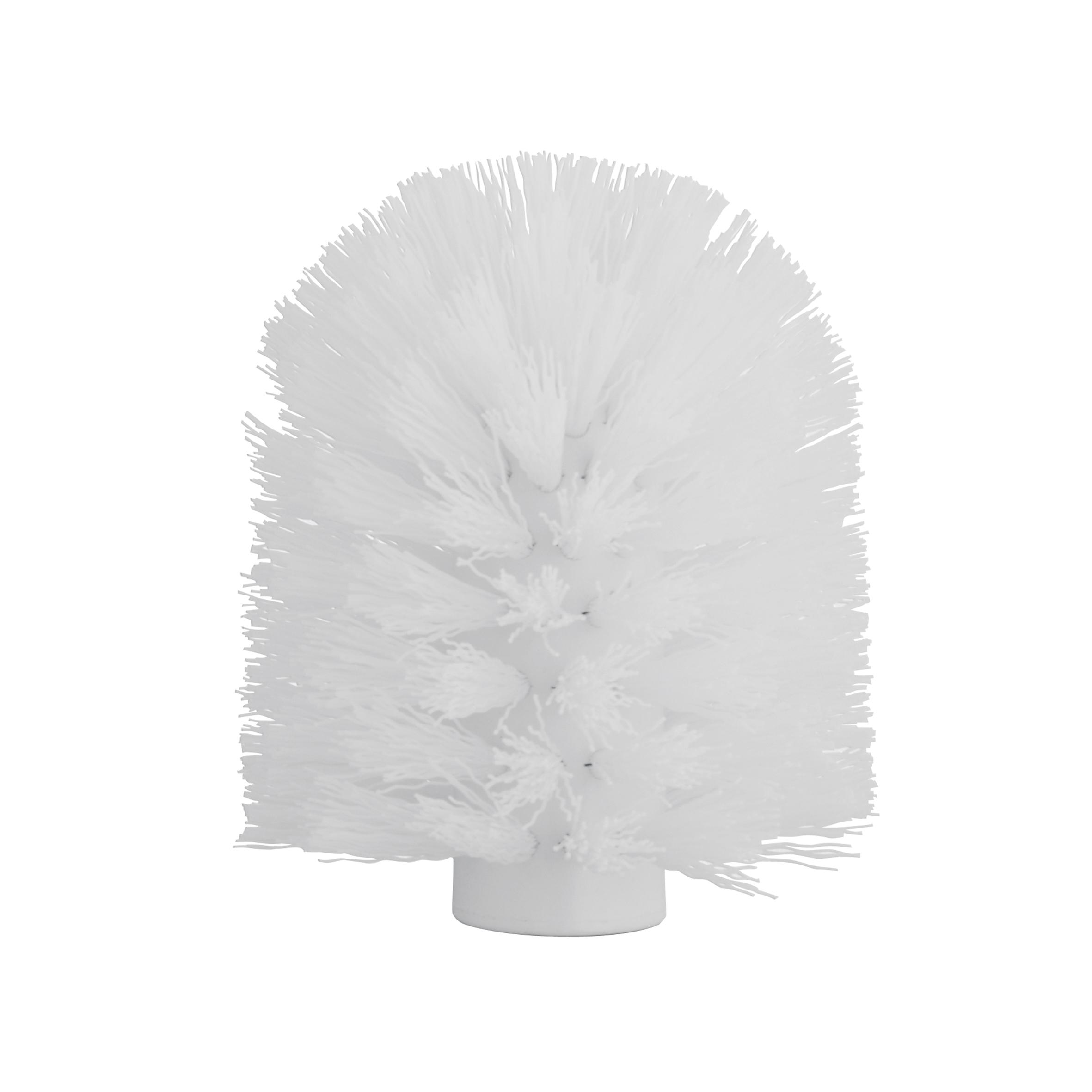 Щетка для ершика Axentia, сменная, цвет: белый, диаметр 8 смCLP446Щетка для ершика Axentia изготовлена из высококачественного пластика. Изделие является необходимой вещью, поскольку со временем ершик для унитаза теряет свои свойства, загрязняется и приходит в негодность. Резьба щетки подходит ко всем туалетным гарнитурам tm Axentia и tm TOP STAR, а так же к большинству других ершей, а классический диаметр 8 см является самым распространенным среди гарнитур. Внутренний диаметр резьбы: 1,2 см.