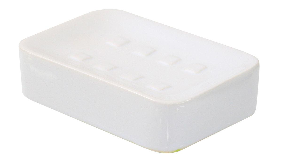 Мыльница Axentia Bianco, 12 х 8 х 3 см531-105Мыльница Axentia Bianco изготовлена из натуральной и элегантной керамики белого цвета. Изделие имеет удобную прямоугольную форму и отлично сочетается с другими аксессуарами из коллекции Bianco.Размер мыльницы: 12 х 8 х 3 см.