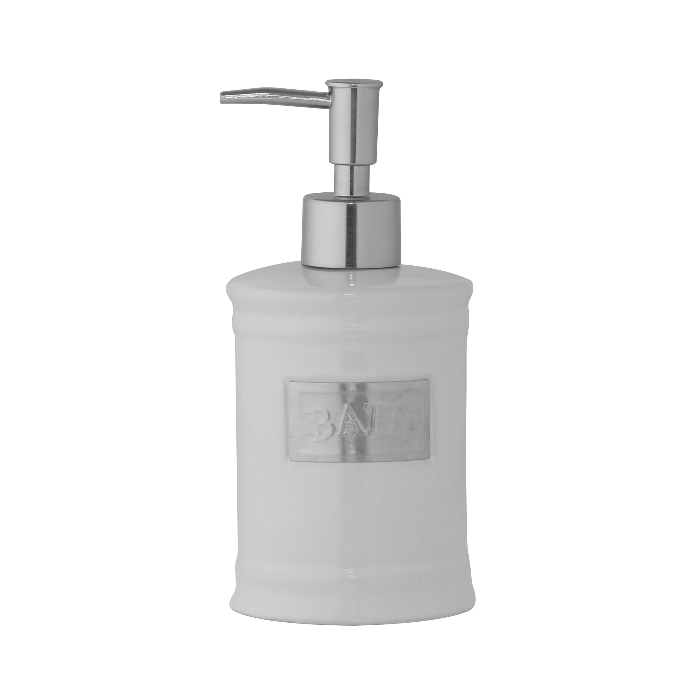 Дозатор для жидкого мыла Axentia Lyon122426Дозатор для жидкого мыла Axentia Lyon изготовлен из белоснежной керамики с элементами из нержавеющей стали в античном стиле. Изделие прекрасно дополнит интерьер вашей ванной комнаты или кухни.Высота дозатора: 18 см.