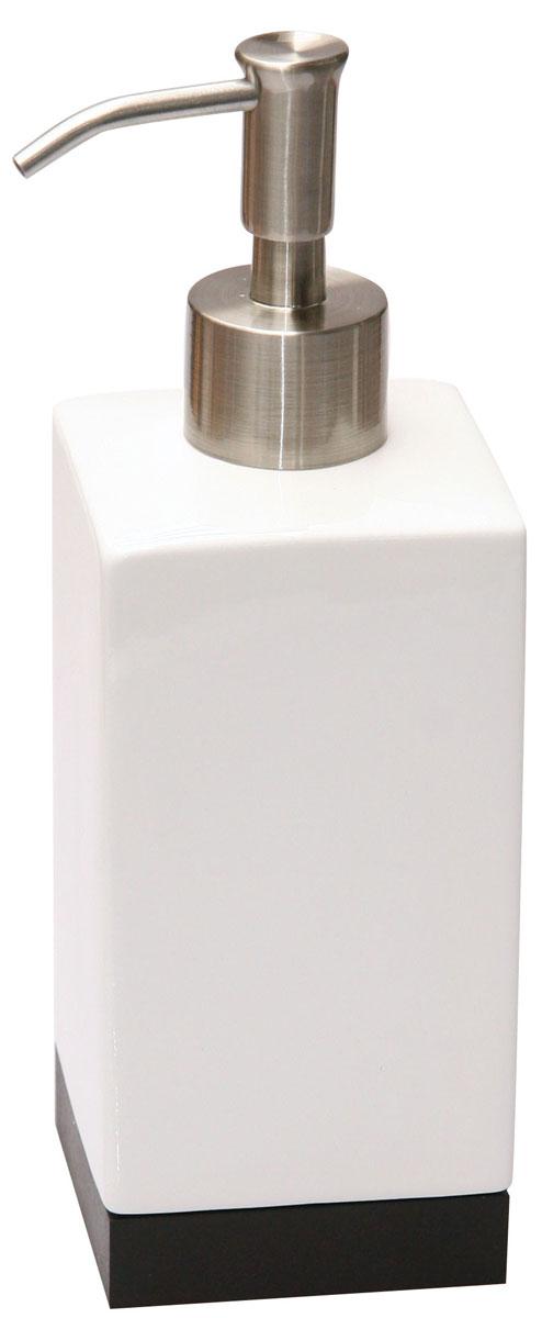 Дозатор для жидкого мыла Axentia Ginella531-105Дозатор для жидкого мыла Axentia Ginella изготовлен из керамики с элементами дерева и нержавеющей стали. Имеет благородный внешний вид, способный подчеркнуть статус хозяина дома.Высота дозатора: 20 см.