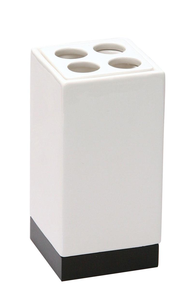 Стакан для зубных щеток Axentia Ginella68/5/3Стакан для зубных щеток Axentia Ginella выполнен из из керамики с элементами дерева и нержавеющей стали.Изделие превосходно дополнит интерьер ванной комнаты.
