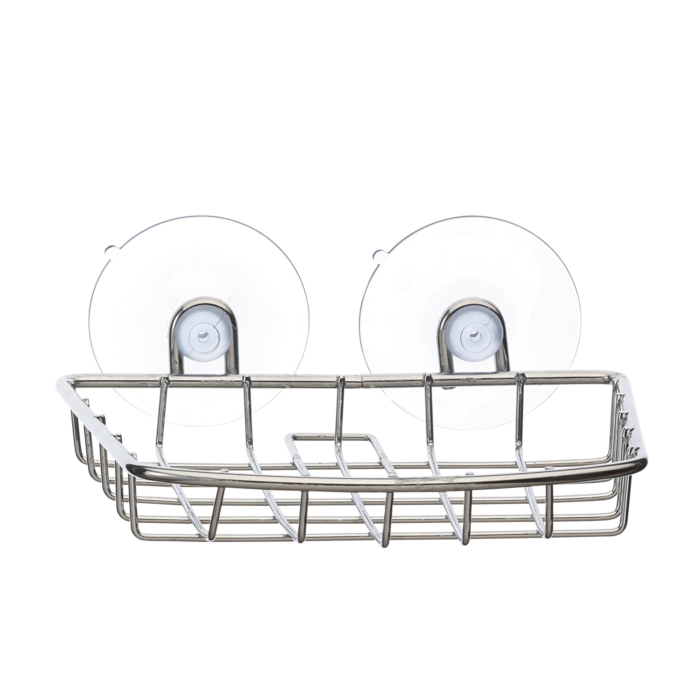 Мыльница Top Star, подвесная, на присосках282315Настенная мыльница Top Star изготовлена из высококачественной хромированной стали. Устойчива к коррозии в условиях высокой влажности в ванной комнате. Крепится к стене на двух присосках (входят в комплект).Такая мыльница притягивает взгляд и прекрасно подойдет к интерьеру ванной комнаты.