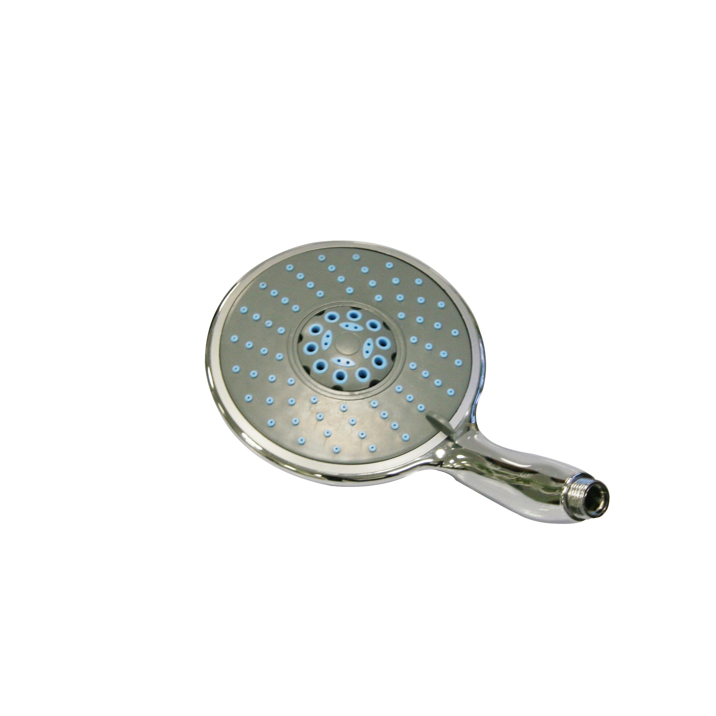 Лейка для душа Top Star Spa, 5 режимовBL505Широкая душевая лейка Top Star Spa, изготовленная из прочного пластика и нержавеющей стали, воплощает в себе стильную простоту и комфорт в использовании. Лейка имеет 5 режимов переключения, что позволяет принимать душ, омывая всетело, и эффективно промывать волосы от шампуня. Изделие прекрасно подойдет для интерьера любой ванной комнаты.Душевая лейка Top Star Spa удобна и практична в работе.Диаметр лейки: 15 см.