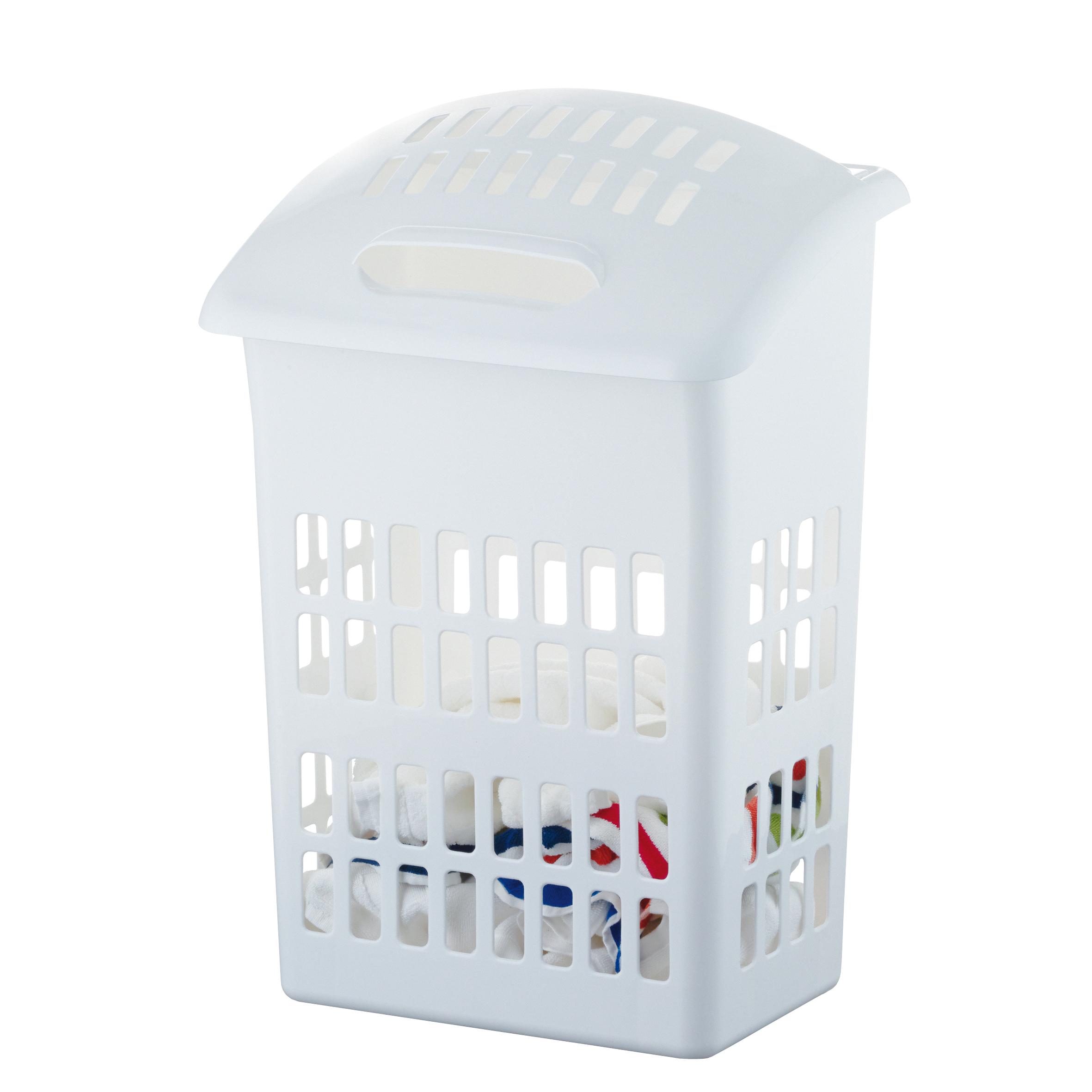 Корзина для белья Axentia, с крышкой, 44 х 31 х 67 см41616Корзина для белья Axentia изготовлена из высококачественного пластика. Имеет специальные отверстия, для того, чтобы ваше белье не сопрело. Подходит для хранения обуви или игрушек.Современный дизайн корзины украсит любой интерьер ванной комнаты.Размер корзины: 44 х 31 х 67 см.