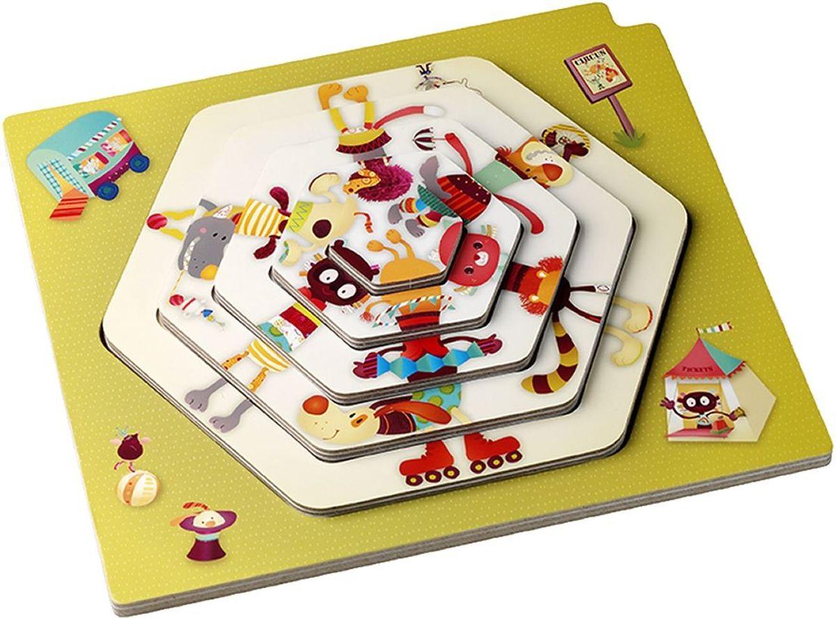 Lilliputiens Набор пазлов для малышей Цирковое представление как билет на борисов арену