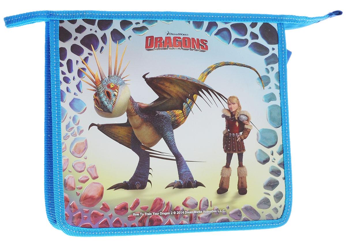 Action! Папка для тетрадей Dragons цвет голубойAC-1121RDПапка Action! Dragons предназначена для хранения тетрадей, рисунков и прочих бумаг формата А5.Папка выполнена из прочного материала и содержит одно отделение. Закрывается на застежку-молнию. Папка оформлена изображением персонажей мультфильма Как приручить дракона.С папкой Action! Dragons тетради вашего ребенка всегда будут выглядеть опрятно.