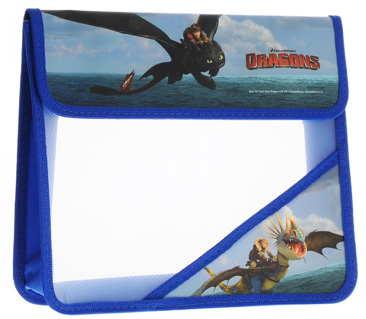 Action! Папка для тетрадей Dragons цвет синий голубой зеленыйFS-36052Папка Action! Dragons предназначена для хранения тетрадей, рисунков и прочих бумаг формата А5. Папка выполнена из прочного материала и содержит одно отделение. Закрывается клапаном на липучки. Стенки папки прозрачные.Клапан и один из нижних уголков папки оформлены изображениями персонажей мультфильма Как приручить дракона.С папкой Action! Dragons тетради вашего ребенка всегда будут выглядеть опрятно.