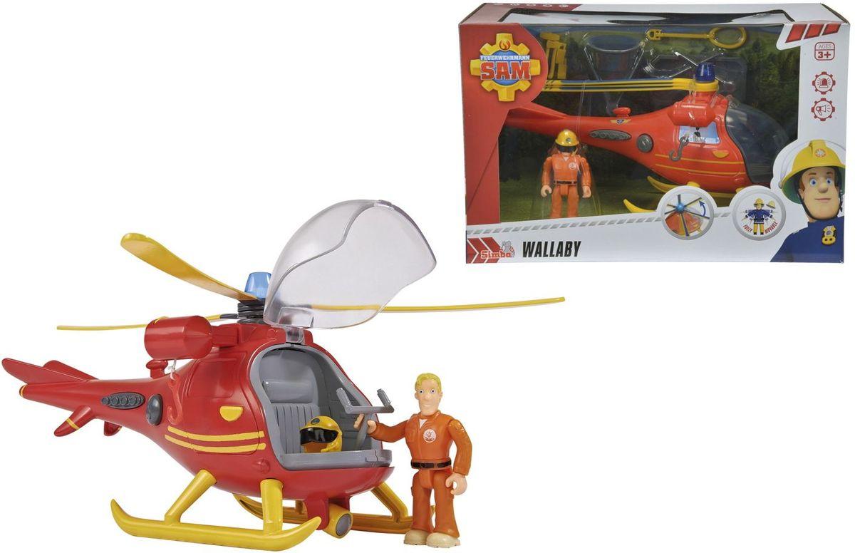 Вертолет Кенгуру всегда приходит на помощь в сложных ситуациях. С помощью крюка и лебедки вертолет может перевозить носилки, ведро и петлю. Вертолет имеет световые и звуковые эффекты, а так же крутящиеся лопасти. В набор входит фигурка Тома Томаса. Требуются батарейки 3x 1,2V HR03 (ААА), входят в комплект.
