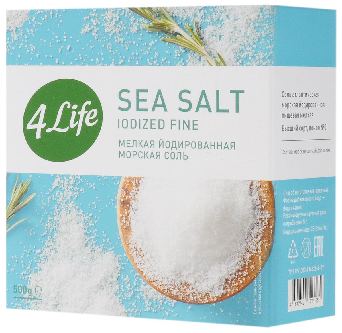 4Life соль морская мелкая йодированная в коробке, 500 гбте003Атлантическая морская йодированная соль 4Life - это 100% натуральный продукт, в своем составе не содержит Е535, 536, дополнительно обогащена йодом. Морская соль предназначена для приготовления различных продуктов, а также для подсаливания уже готовых блюд. Благодаря своему особому составу, морская соль 4Life тонко и изысканно подчеркивает естественный вкус продуктов, поэтому ей отдают предпочтение и гурманы, и сторонники здорового питания. Морская соль добывается путем выпаривания чистейшей воды Атлантического океана под солнечными лучами. Этот естественный, экологичный метод производства позволяет получить максимально чистую соль природного состава. Она содержит не только NaCl, но и широкую палитру полезных для здоровья микроэлементов. Морская соль дополнительно йодирована йодатом калия, который необходим для компенсации йододефицита, характерного для большей части населения нашей страны. 5-10 г соли 4Life полностью удовлетворяют суточную потребность организма в йоде.