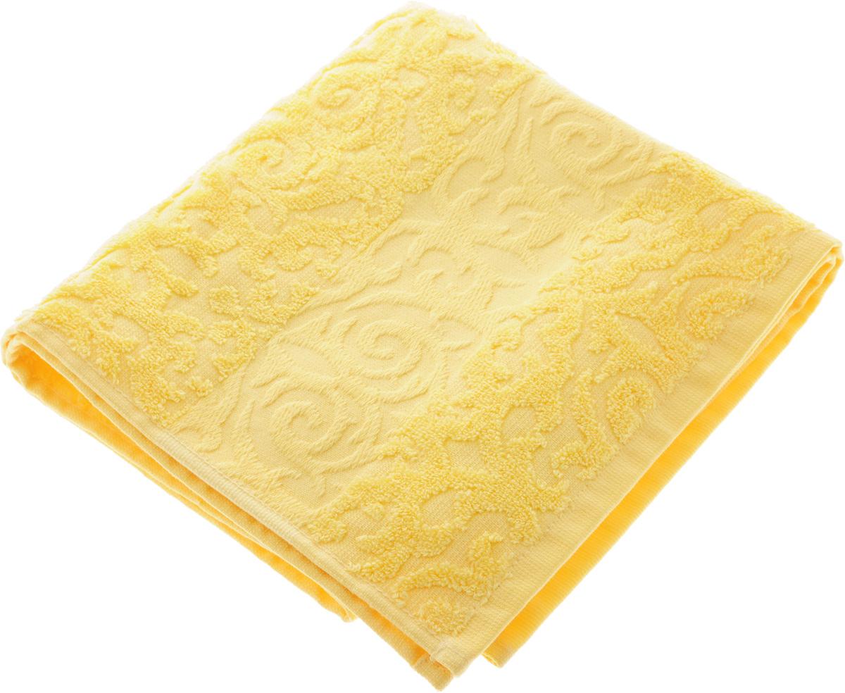 Полотенце Soavita Luxury. Квадро, цвет: желтый, 50 х 90 смES-412Полотенце Soavita Luxury. Квадро выполнено из 100% хлопка. Изделие отлично впитывает влагу, быстро сохнет, сохраняет яркость цвета и не теряет форму даже после многократных стирок. Полотенце очень практично и неприхотливо в уходе. Оно создаст прекрасное настроение и украсит интерьер в ванной комнате.Рекомендуется стирка при температуре 40°C.