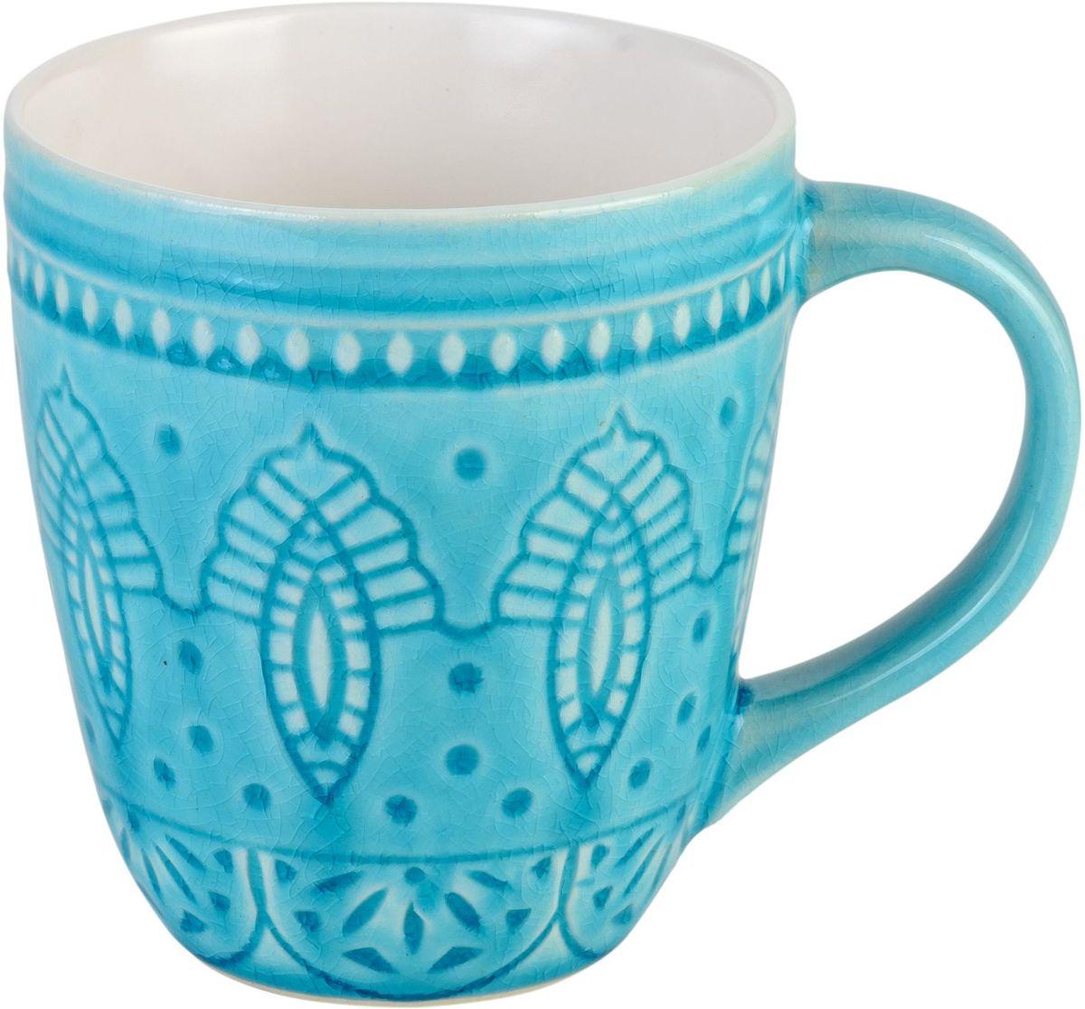 Набор кружек Tongo, цвет: голубая бирюза, 350 мл, 6 штFS-91909Набор Tongo состоит из 6 кружек, выполненных из керамики с глазурованным покрытием. Такой набор станет изысканным украшением стола к чаепитию и порадует вас и ваших гостей оригинальным дизайном и качеством исполнения. Он прекрасно подойдет в качестве подарка к любому случаю. Диаметр кружки (по верхнему краю): 9 см. Высота кружки: 10 см.