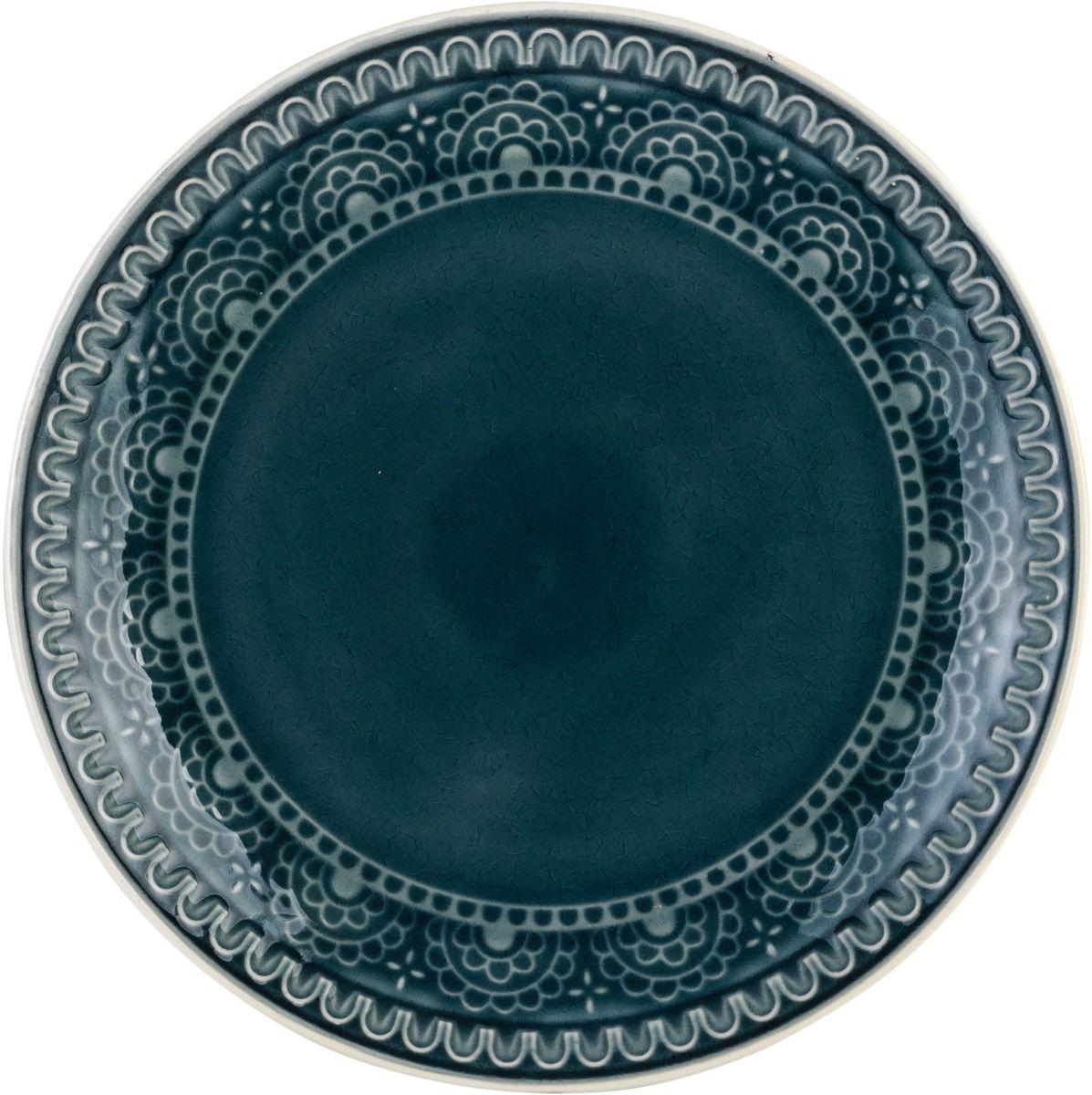 Набор обеденных тарелок Tongo, цвет: темно-серый, диаметр 26,7 см, 4 шт54 009312Набор Tongo состоит из 4 обеденных тарелок. Изделия изготовлены из экологически чистой каменной керамики, покрытой сверкающей глазурью и оформлены этническим рельефным орнаментом Индонезии. Поверхность слегка потрескавшаяся, что придает посуде винтажный вид и оттенок старины.Такой набор прекрасно подходит как для торжественных случаев, так и для повседневного использования. Идеальны для подачи вторых блюд. Тарелки прекрасно оформят стол и станут отличным дополнением к вашей коллекции кухонной посуды.