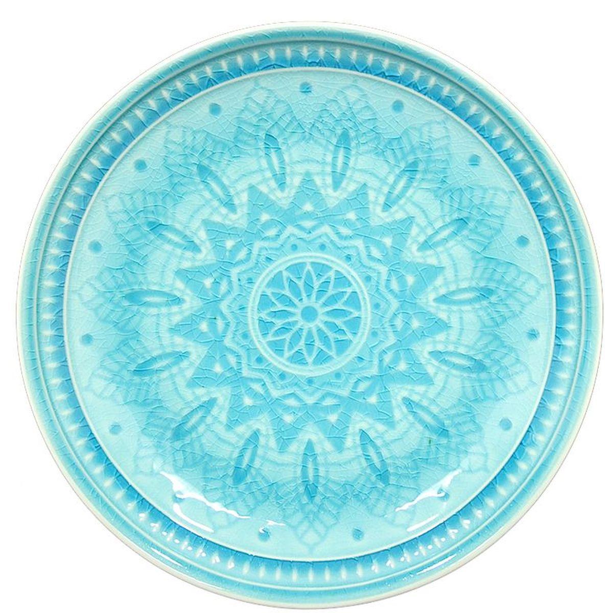 Набор десертных тарелок Tongo, цвет: голубая бирюза, диаметр 20,5 см, 6 штСТР14458241Традиционная этническая посуда Индонезии. Декоративная техника придает посуде этнический шарм, с элементами старения, в виде паутинки мелких трещинок на поверхности эмали, что повышает ее привлекательность и ценность среди посудных аналогов.В процессе эксплуатации мелкие трещины также могут проявляться на внутренних поверхностях кружек и салатников, - что также является задумкой дизайнеров, заложенной в производственной технологии.