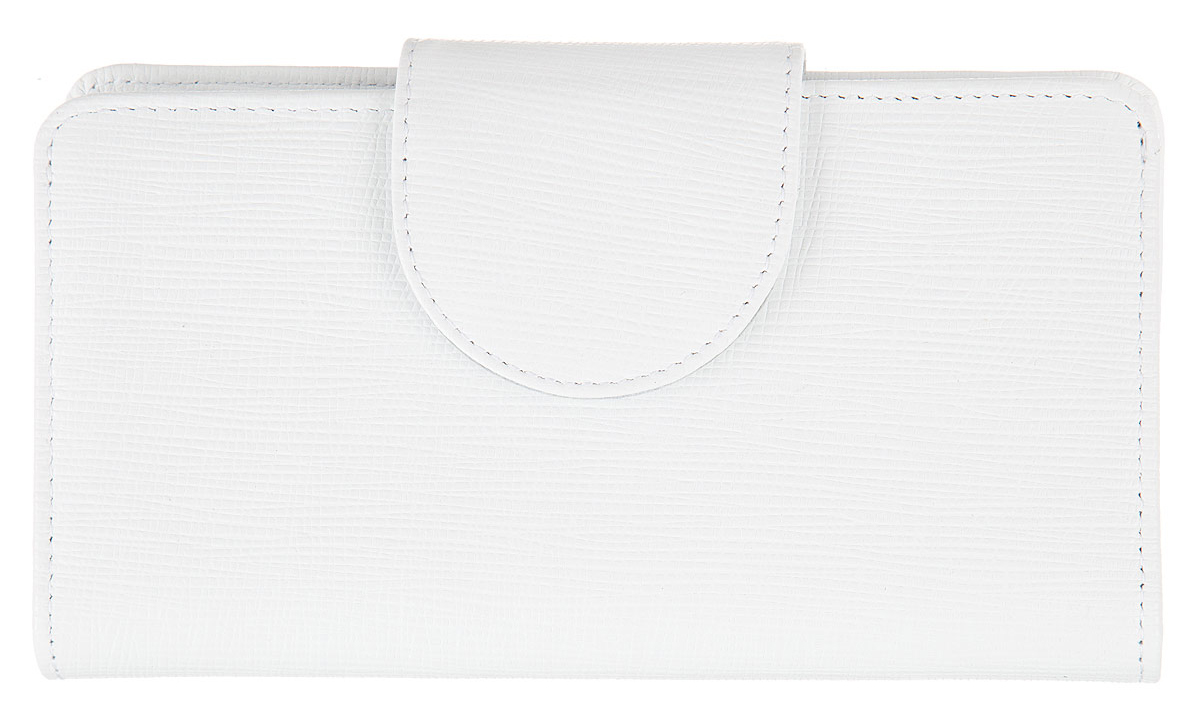 Кошелек женский Esse Мона, цвет: белый. GMNA00-00KN00-FG003O-K100BM8434-58AEСтильный женский кошелек Esse Мона выполнен из натуральной кожи зернистой фактуры. Модель раскладывается пополам и закрывается широким хлястиком на кнопку. Изделие содержит два отделения для купюр, карман на молнии для мелочи, четыре дополнительных открытых кармана, девять карманов для кредитных карт или визиток и карман с пластиковым окошком. Внутри кошелёк декорирован тиснением логотипа бренда.Яркий кошелек из натуральной кожи является неотъемлемым элементом делового и повседневного стилей. Он не только практичен в использовании, но также позволит вам подчеркнуть свою индивидуальность. Кошелек упакован в фирменную картонную коробку с логотипом бренда.