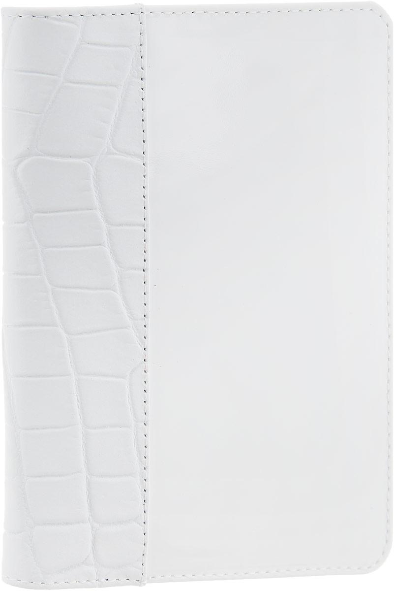 Обложка для паспорта женская Esse Page, цвет: белый. GPGE00-000000-FF903O-K100O.1.LGСтильная женская обложка для паспорта Esse Page выполнена из натуральной кожи, оформлена комбинацией гладкой блестящей кожи и кожи с тиснением под крокодила.На внутреннем развороте имеются три кармана для кредитных карт или визиток. Внутри обложка декорирована тиснением логотипа бренда. Обложка не только поможет сохранить внешний вид ваших документов и защитить их от повреждений, но и станет стильным аксессуаром, идеально подходящим вашему образу. Обложка для паспорта стильного дизайна может быть достойным и оригинальным подарком.