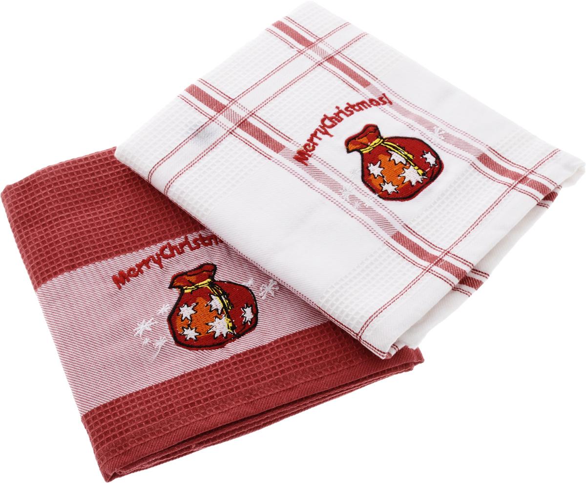 Набор кухонных полотенец Soavita Подарочное, цвет: белый, красный, 45 х 70 см, 2 шт. 440981004900000360Набор Soavita Подарочное состоит из двух полотенец, выполненных из 100% хлопка. Изделия предназначены для использования на кухне и в столовой.Набор полотенец Soavita Подарочное - отличное приобретение для каждой хозяйки.Комплектация: 2 шт.