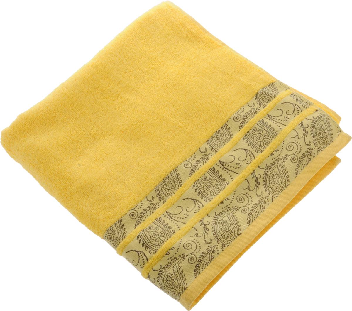 Полотенце Soavita Luxury. Almond, цвет: желтый, коричневый, 70 х 140 см97775318Полотенце Soavita Luxury. Almond выполнено из 100% хлопка. Изделие отлично впитывает влагу, быстро сохнет, сохраняет яркость цвета и не теряет форму даже после многократных стирок. Полотенце очень практично и неприхотливо в уходе. Оно создаст прекрасное настроение и украсит интерьер в ванной комнате.