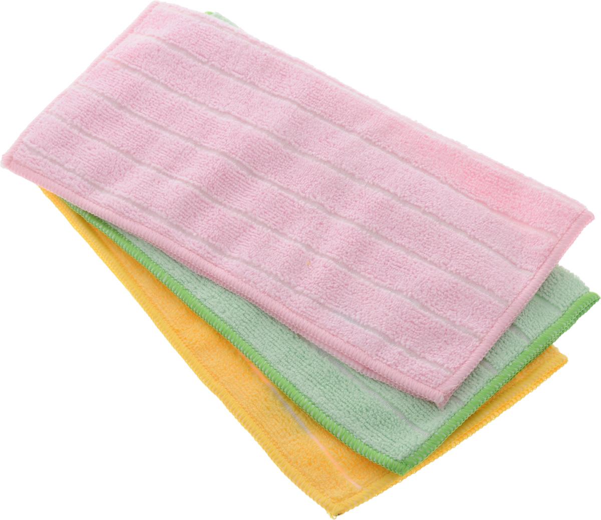 Салфетка универсальная Soavita Однотонные, 30 х 30 см, 3 штDAVC150Набор Soavita Однотонные состоит из трех салфеток, выполненных из микрофибры (80% полиэстер и 20% полиамид). Изделия отлично впитывают влагу, быстро сохнут, сохраняют яркость цвета и не теряют форму даже после многократных стирок. Салфетки универсальны, очень практичны и неприхотливы в уходе.