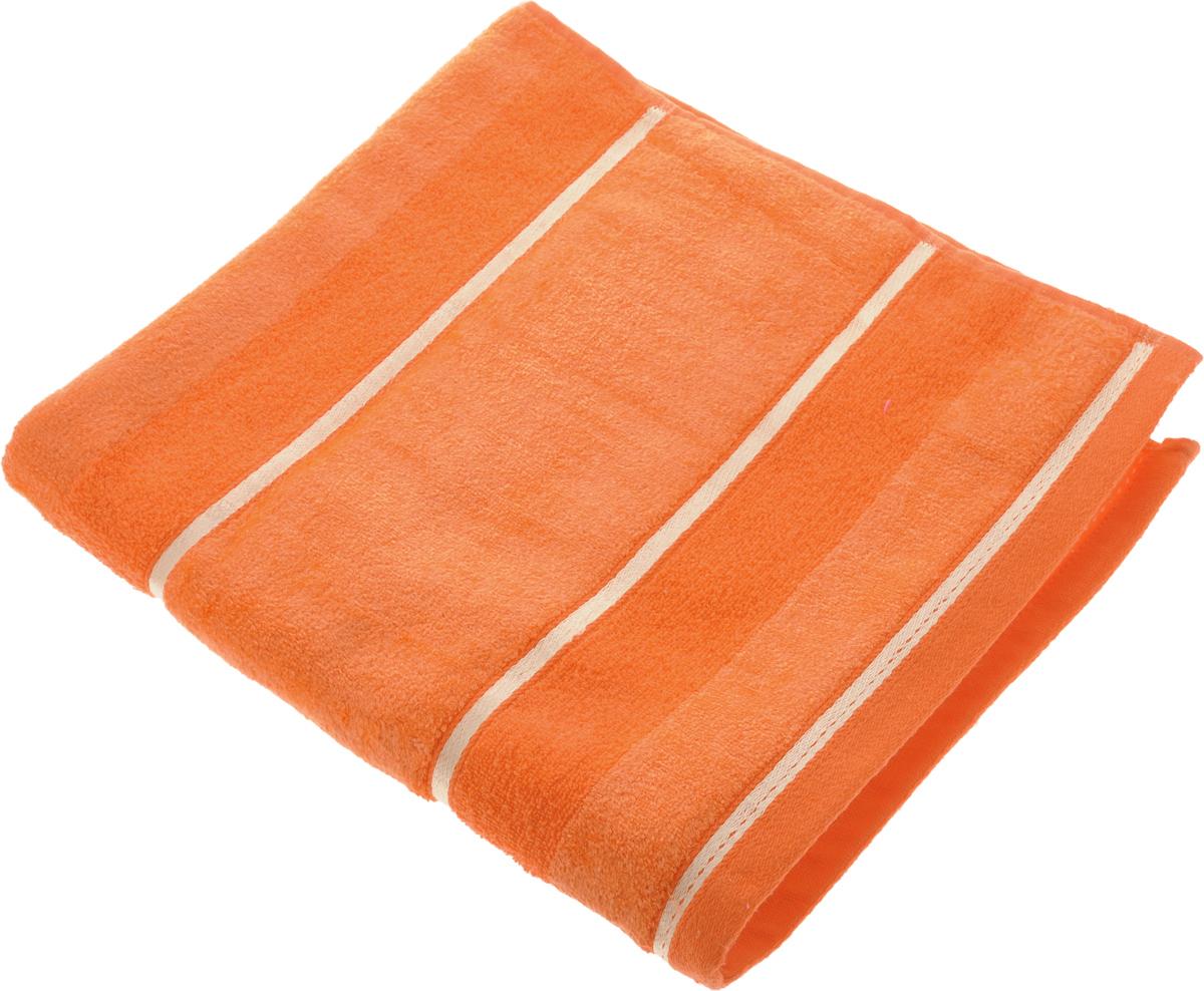 Полотенце Soavita Louise, цвет: оранжевый, 70 х 140 см97775318Полотенце Soavita Louise выполнено из 100% хлопка. Все детали качественно прошиты, ткань очень плотная, не линяет и держится много лет. Изделие отлично впитывает влагу, быстро сохнет, сохраняет яркость цвета и не теряет форму даже после многократных стирок. Полотенце очень практично и неприхотливо в уходе. Оно создаст прекрасное настроение и украсит интерьер в ванной комнате.
