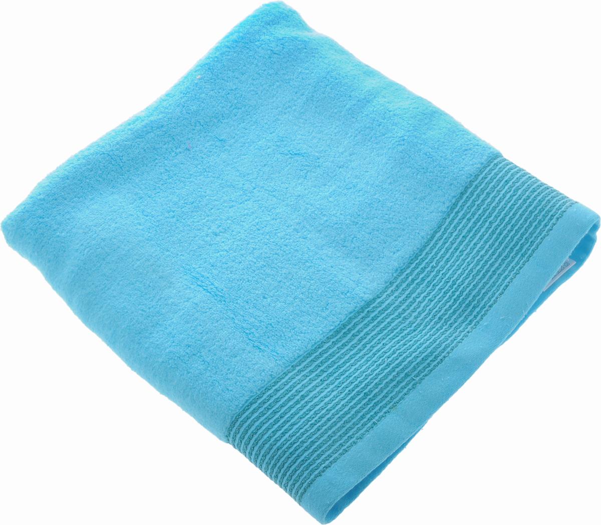 Полотенце Soavita Селсо, цвет: голубой, 70 х 140 см10503Полотенце Soavita Селсо выполнено из 100% хлопка. Изделие отлично впитывает влагу, быстро сохнет, сохраняет яркость цвета и не теряет форму даже после многократных стирок. Полотенце очень практично и неприхотливо в уходе. Оно создаст прекрасное настроение и украсит интерьер в ванной комнате.