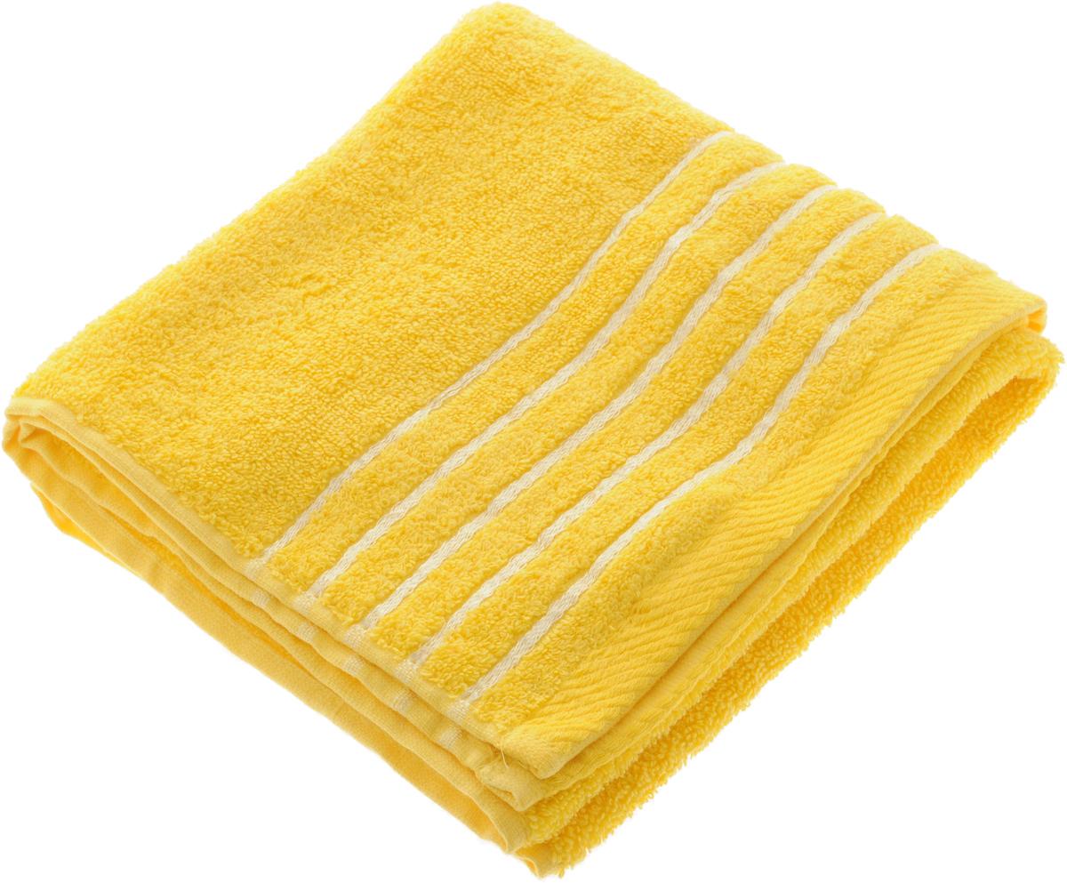 Полотенце Soavita Olivia, цвет: желтый, 50 х 90 см68/5/1Полотенце Soavita Olivia выполнено из 100% хлопка. Изделие отлично впитывает влагу, быстро сохнет, сохраняет яркость цвета и не теряет форму даже после многократных стирок. Полотенце очень практично и неприхотливо в уходе. Оно создаст прекрасное настроение и украсит интерьер в ванной комнате.