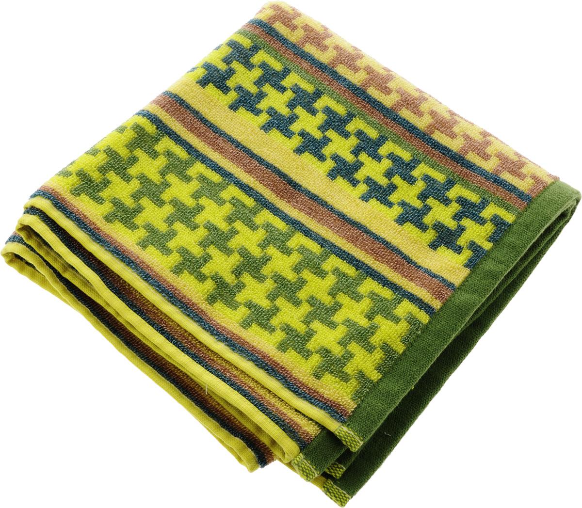 Полотенце Soavita Азарт, цвет: желтый, зеленый, коричневый, 50 х 90 см68/5/1Полотенце Soavita Азарт выполнено из 100% хлопка. Изделие отлично впитывает влагу, быстро сохнет, сохраняет яркость цвета и не теряет форму даже после многократных стирок. Полотенце очень практично и неприхотливо в уходе. Оно создаст прекрасное настроение и украсит интерьер.