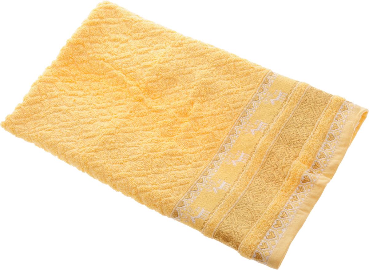 Полотенце Soavita Marco, цвет: желтый, 50 х 90 см12723Полотенце Soavita Marco выполнено из 100% хлопка. Изделие отлично впитывает влагу, быстро сохнет, сохраняет яркость цвета и не теряет форму даже после многократных стирок. Полотенце очень практично и неприхотливо в уходе. Оно создаст прекрасное настроение и украсит интерьер в ванной комнате.