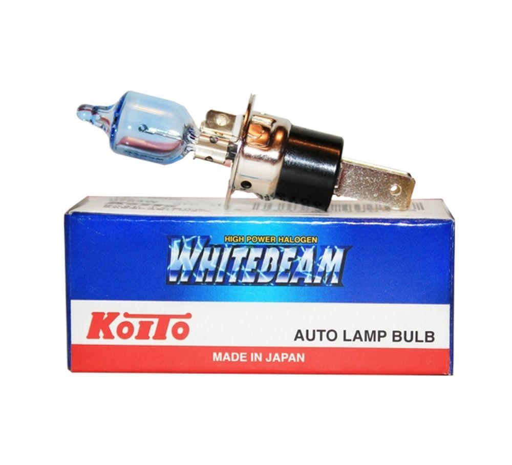 Лампа галогеновая Koito Whitebeam H3c, 12V, 55WKOITO Лампа автомобильная 0753W1. УДВОЕННАЯ ЯРКОСТЬ СВЕТА ФАРЕсли Вы хотите увеличить яркость света фар Вашего автомобиля - лампы KOITO Whitebeam будут лучшим выбором!Удвоенная ЯркостьЛампы KOITO Whitebeam являются вершиной развития технологий автомобильного освещения. Созданные с применением самых современных технологий и ноу-хау компании KOITO, разработанные на основе опыта поставок систем освещения крупнейшим мировым автопроизводителям, лампы серии Whitebeam III воплотили в себе весь опыт и достижения компании за почти вековую историю работы.Удвоенная яркость и отличная освещенностьдороги обеспечивается за счет применения нескольких технологий:- Температура свечения нити накаливания, выполненная из материала с повышенной тугоплавкостью, выше, чем в стандартных галогеновых лампах.- Смесь инертных газов, специально закаченных в колбу под давлением, в два раза превышающим таковое в обычной лампе.Как результат, удвоенная яркость и улучшенная освещенность дороги!НАДЕЖНОСТЬ И ДОЛГИЙ СРОК СЛУЖБЫНадежность И Долгий СрокВсовременных автомобилях замена ламп часто является сложной задачей,для решения которой Вам понадобится ехать на СТО, тратить время иденьги. Лампы KOITO помогут Вам сэкономить, установивих один раз, Вы надолго обеспечите отличное «зрение» Вашемуавтомобилю!Лампы KOITO произведены на заводе компании KOITOв Японии и отвечают требованиям к качеству продукции,поставляемой на конвейеры.Срок службы лампы соответствует спецификациямпроизводителей автомобилей, т.е. лампы KOITO прослужат на25-100% дольше, чем похожие продукты других производителей. БЕЗОПАСНОСТЬ ДЛЯ ФАРЧасто, пытаясьувеличить яркость света фар автомобиля, автовладельцы выбираютлампы увеличенной мощности. Такие лампы не предназначены дляиспользования в стандартных фарах, и результатом их использованиестановится оплавившейся и помутневший пластик фар, а часто и выход изстроя фары.Лампы KOITO разработаны для применения влюбых фарах, они не выделяют избыточн