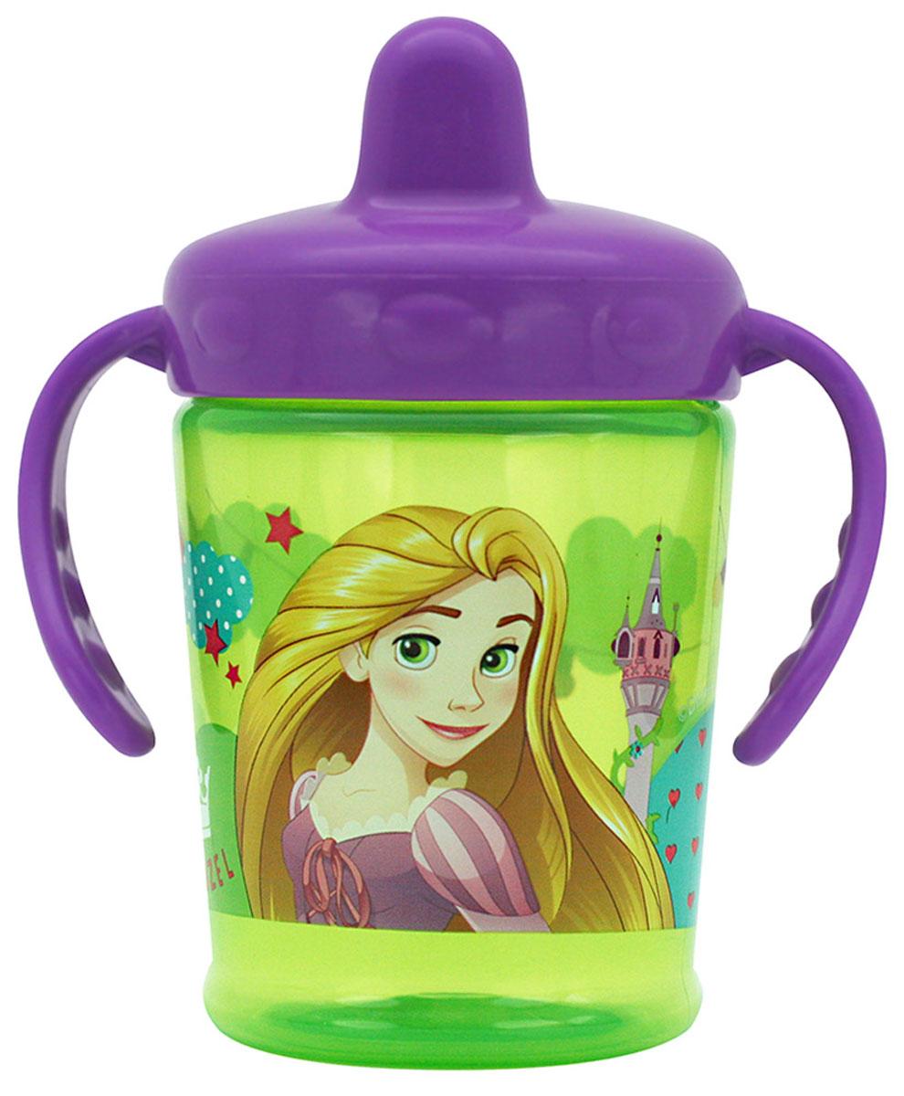 Lubby Поильник-непроливайка Принцессы от 6 месяцев цвет фиолетовый 250 мл