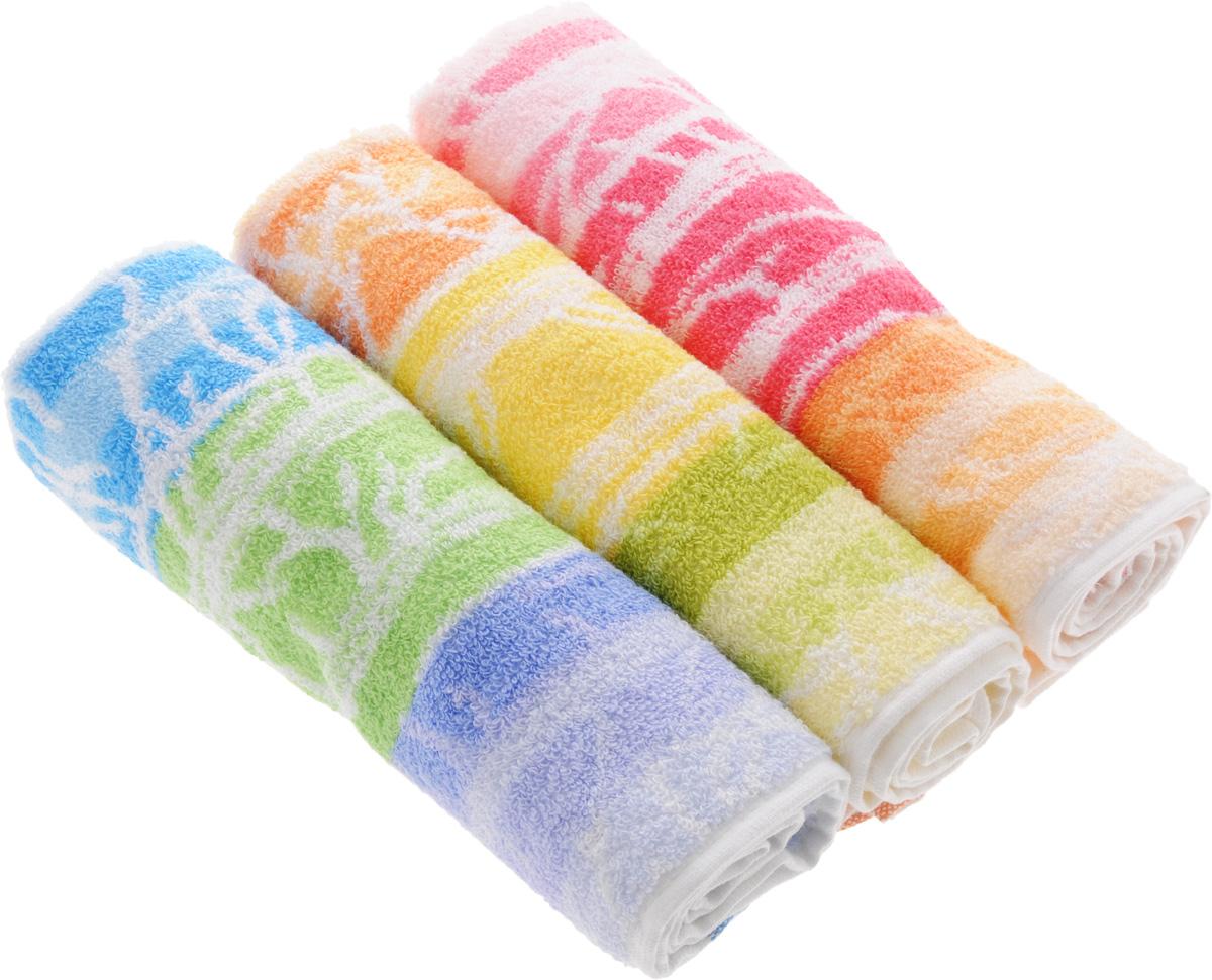 Набор полотенец Soavita Интер, цвет: белый, желтый, розовый, 33 х 74 см, 3 шт68/2/2Набор Soavita Интер состоит из трех полотенец, которые выполнены из 100% хлопка. Изделия отлично впитывают влагу, быстро сохнут, сохраняют яркость цвета и не теряют форму даже после многократных стирок. Полотенца очень практичны и неприхотливы в уходе. Такой набор Soavita Интер создаст прекрасное настроение и украсит интерьер в ванной комнате.Комплектация: 3 шт.