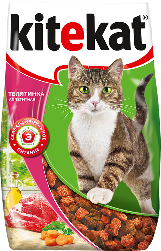 Корм сухой для кошек Kitekat, телятина аппетитная, 800 г40429Сухой корм для взрослых кошек Kitekat - это специально разработанный рацион с оптимально сбалансированным содержанием белков, витаминов и микроэлементов. Уникальная формула Kitekat включает в себя все необходимые для здоровья компоненты: - белки - для поддержания мышечного тонуса, силы и энергии; - жирные кислоты - для здоровой кожи и блестящей шерсти; - кальций, фосфор, витамин D - для крепости костей и зубов; - таурин - для остроты зрения и стабильной работы сердца; - витамины и минералы, натуральные волокна - для хорошего пищеварения, правильного обмена веществ, укрепления здоровья.Состав: злаки, мясо и субпродукты, белковые растительные экстракты, жиры животного происхождения, растительные масла (источник омега-6), овощи, пивные дрожжи, витамины и минеральные вещества. Товар сертифицирован.