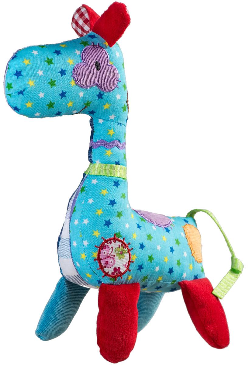 BabyOno Мягкая игрушка-погремушка Жираф babyono мягкая кукла лили цвет коралловый